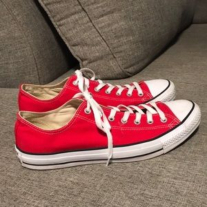 Converse All ⭐️ Star - Red & White Shoes.